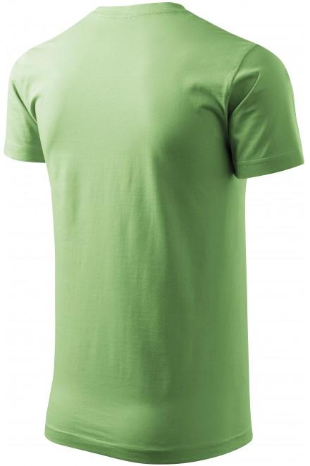 Grass green men's simple T-shirt