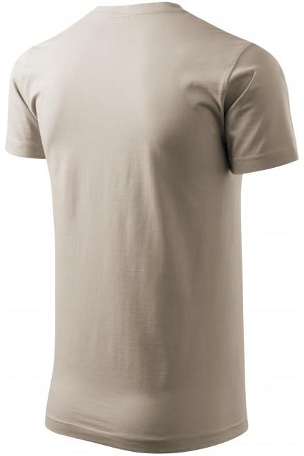 Ice gray men's simple T-shirt