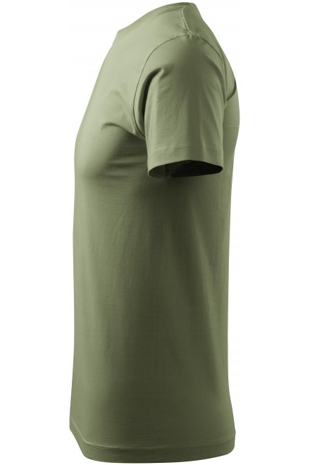Khakifarbenes men's simple T-shirt
