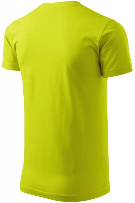 Lime green men's simple T-shirt