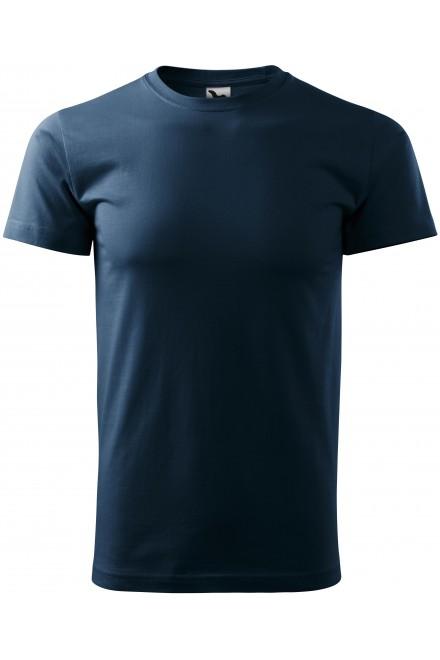 Navy blue men's simple T-shirt