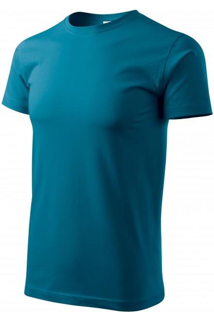 Men's simple T-shirt Petrol blue