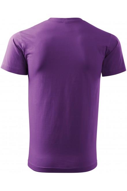 Purple men's simple T-shirt
