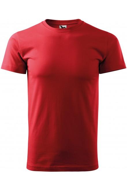 Red men's simple T-shirt