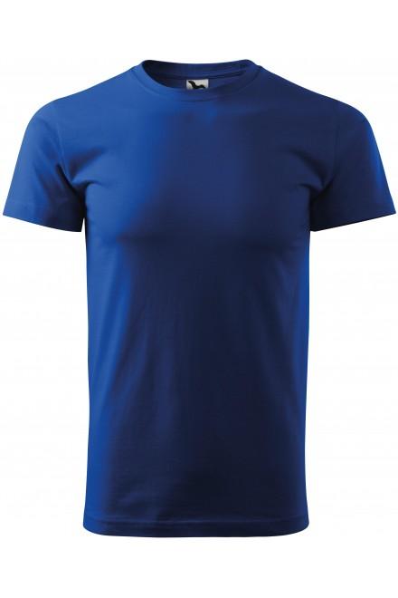 Royal blue men's simple T-shirt
