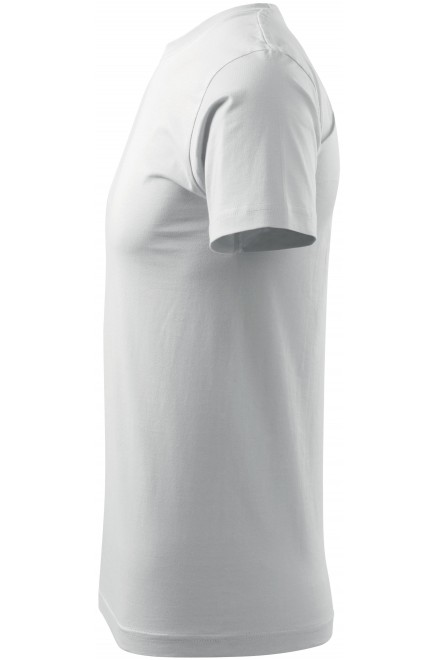 White men's simple T-shirt