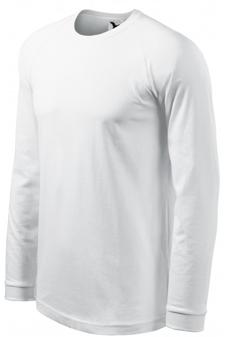 Men's contrast T-shirt with long sleeves White