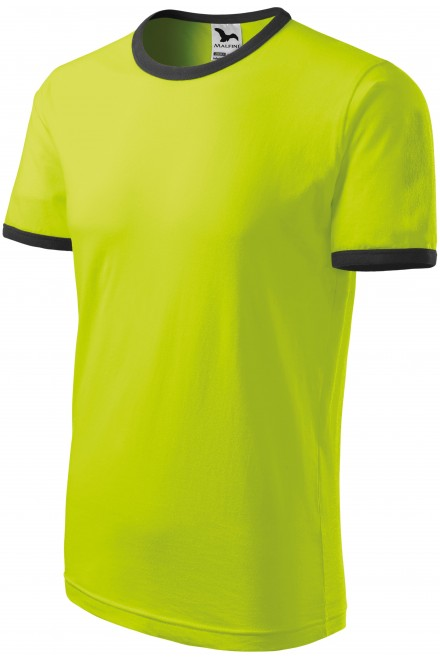 Unisex contrast T-shirt Lime green