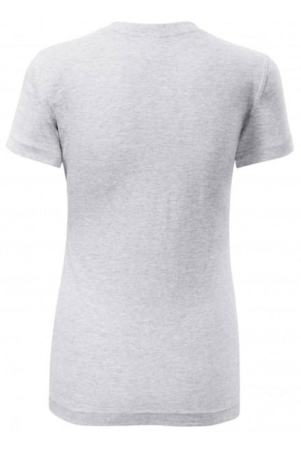 Ash melange ladies classic T-shirt