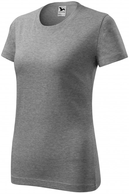 Ladies classic T-shirt Dark gray melange