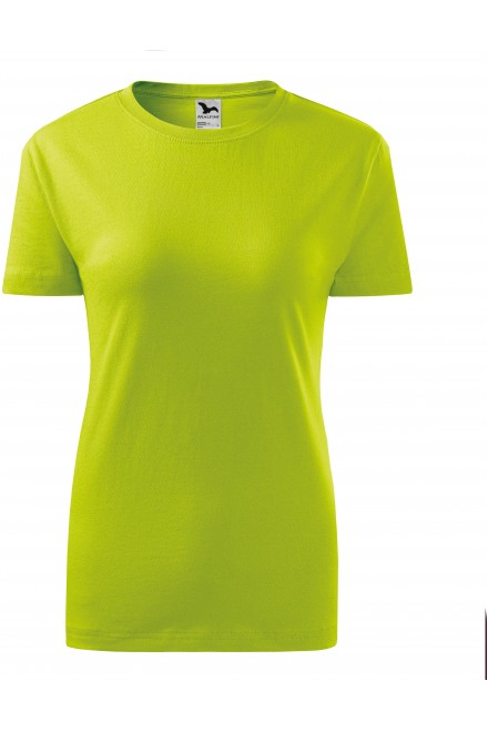 Lime green ladies classic T-shirt