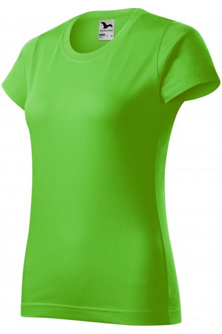 Ladies simple T-shirt Apple green