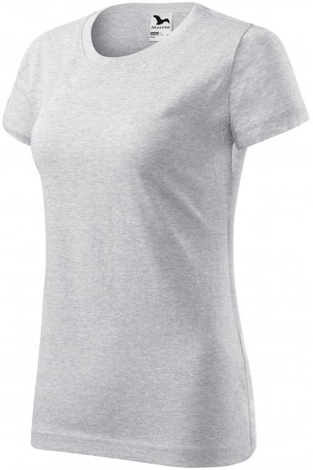 Ladies simple T-shirt Ash melange