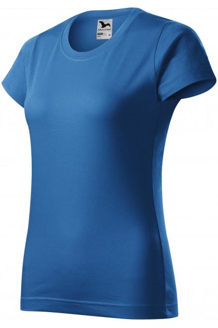 Ladies simple T-shirt Azure blue