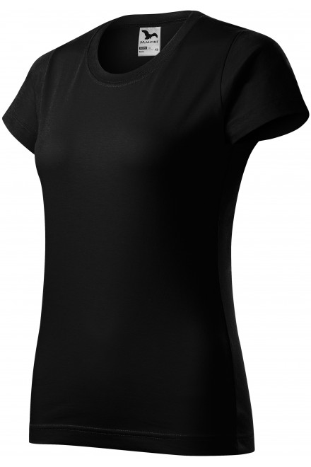 Ladies simple T-shirt Black