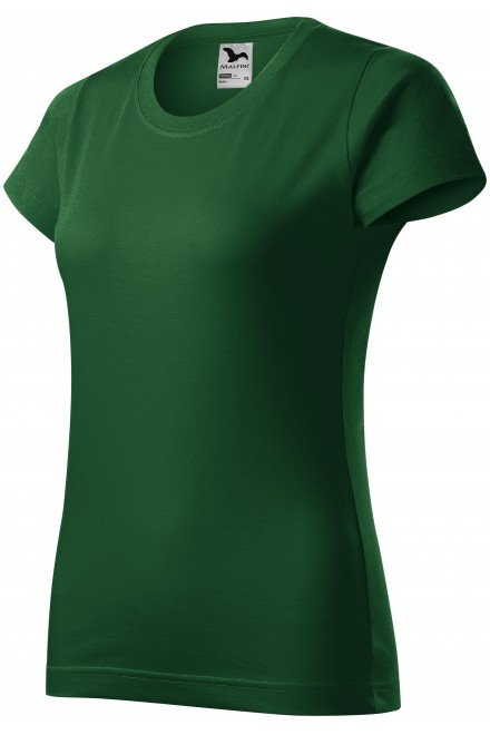 Ladies simple T-shirt Bottle green