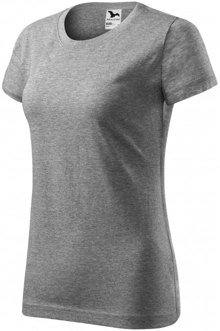 Ladies simple T-shirt Dark gray melange
