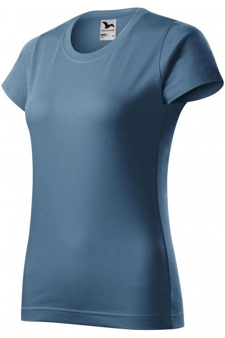 Ladies simple T-shirt Denim