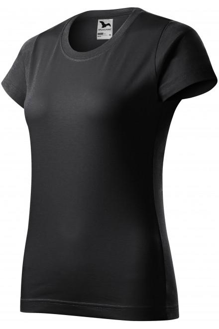 Ladies simple T-shirt Ebony gray