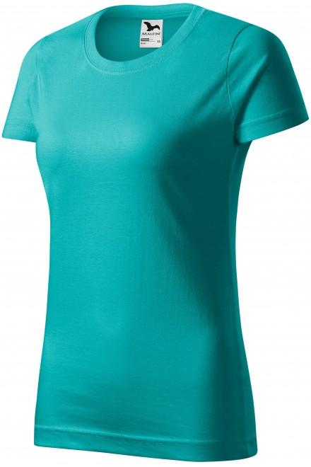Ladies simple T-shirt Emerald