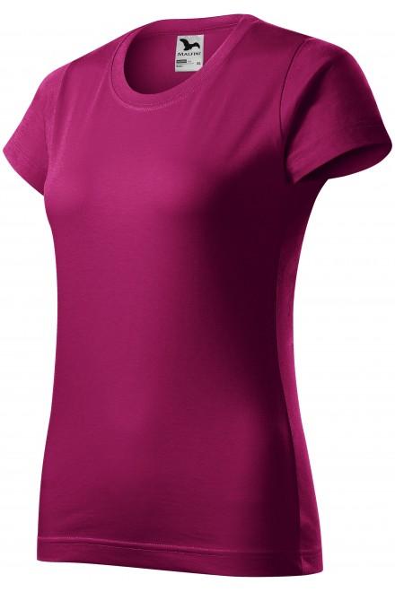 Ladies simple T-shirt Fuchsia red