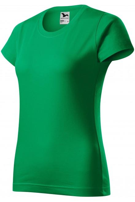 Ladies simple T-shirt Kelly green
