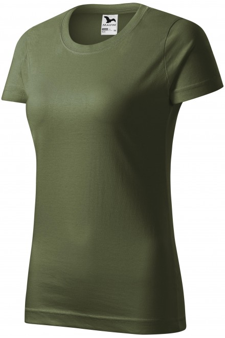 Ladies simple T-shirt Khakifarbenes