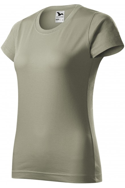 Ladies simple T-shirt Dark gray melange