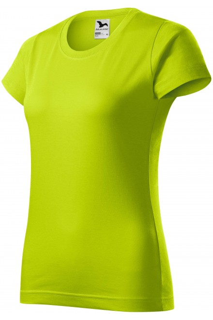 Ladies simple T-shirt Lime green