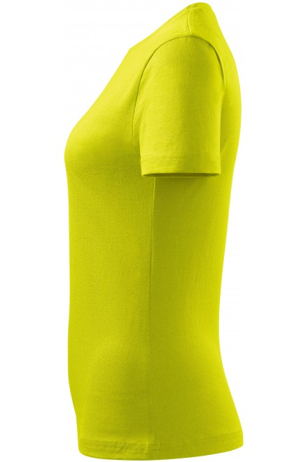 Lime green ladies simple T-shirt