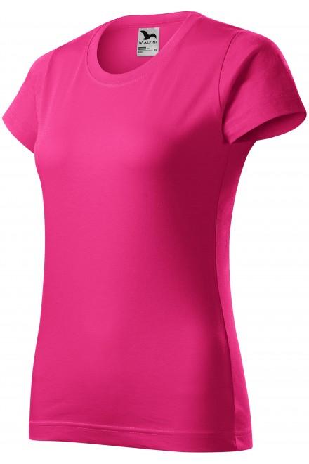 Ladies simple T-shirt Magenta