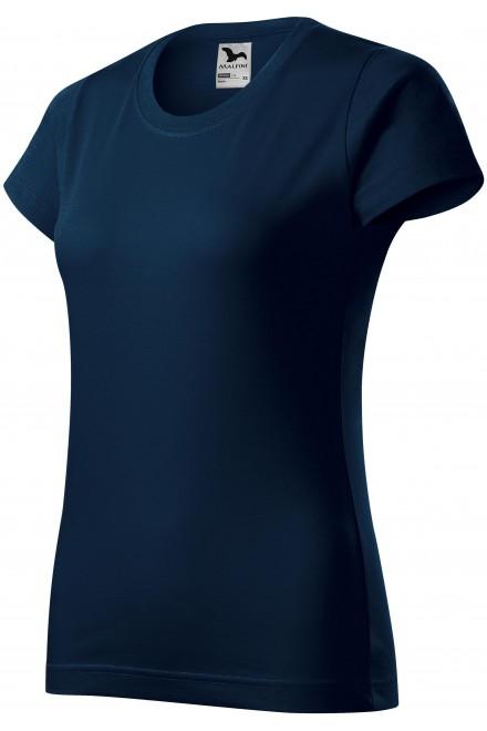Ladies simple T-shirt Navy blue