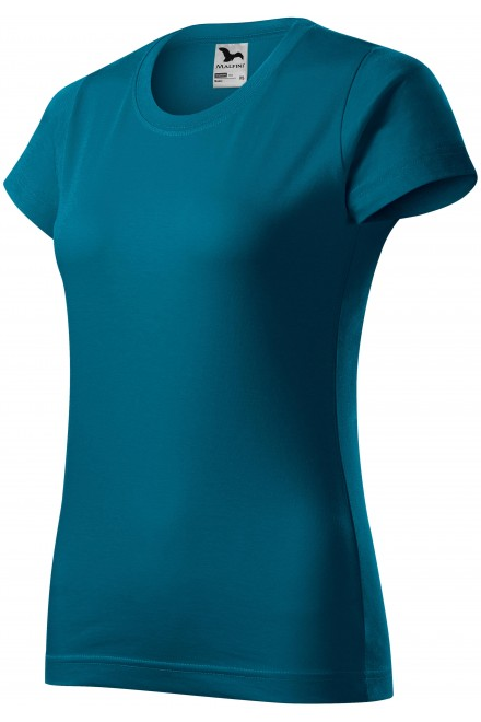 Ladies simple T-shirt Petrol blue
