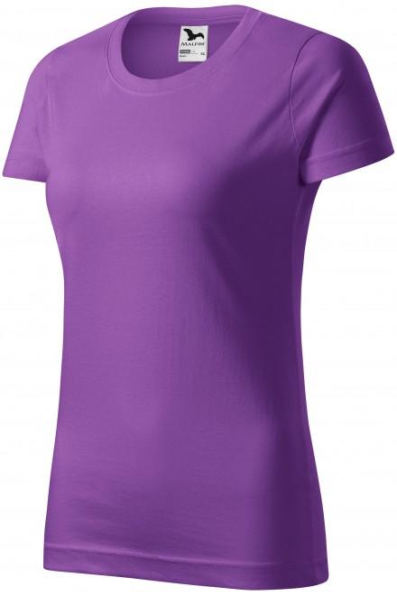 Ladies simple T-shirt Purple
