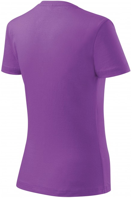 Purple ladies simple T-shirt