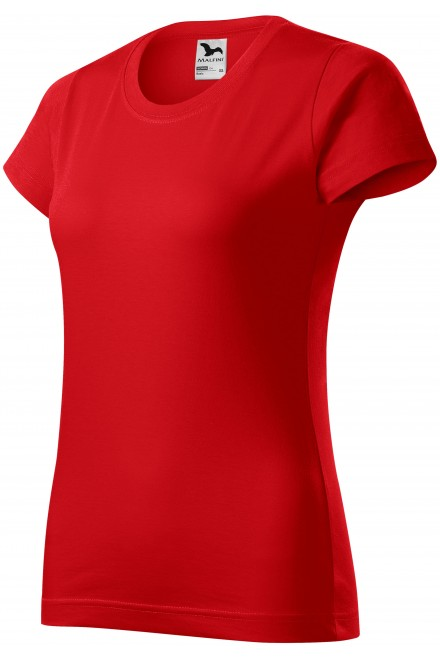 Ladies simple T-shirt Red