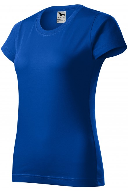 Ladies simple T-shirt Royal blue