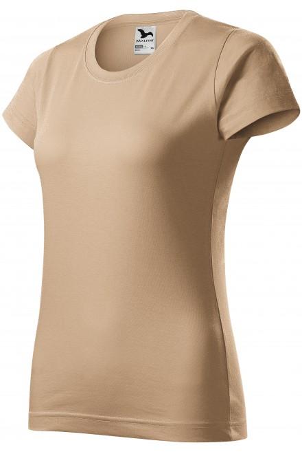 Ladies simple T-shirt Sand