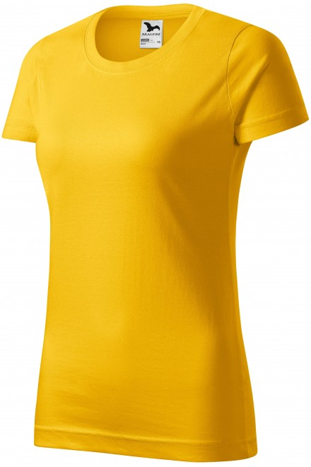 Yellow ladies simple T-shirt