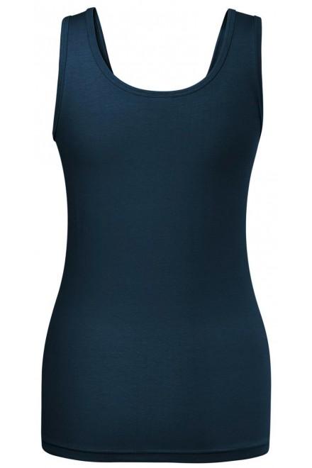 Navy blue ladies singlet