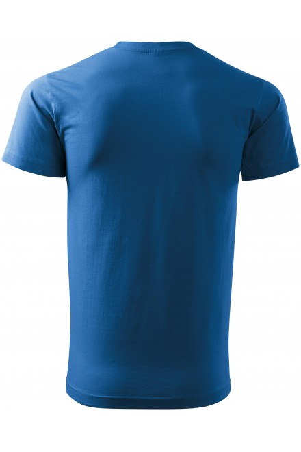 Azure blue unisex higher weight T-shirt