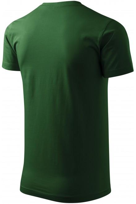 Bottle green unisex higher weight T-shirt