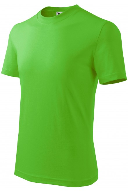 Childrens simple T-shirt Apple green