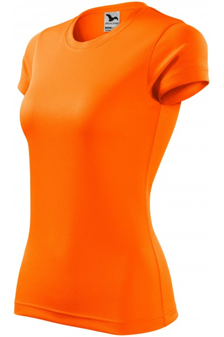 Ladies sports T-shirt Neon orange