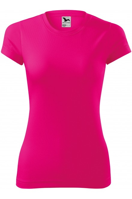 Neon pink ladies sports T-shirt
