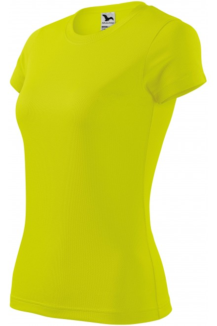 Ladies sports T-shirt Neon yellow