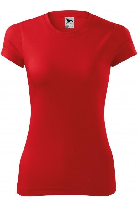 Red ladies sports T-shirt