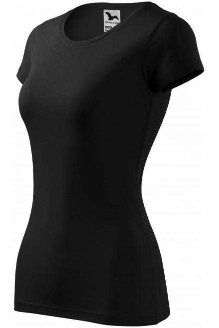Ladies slim-fit T-shirt Black