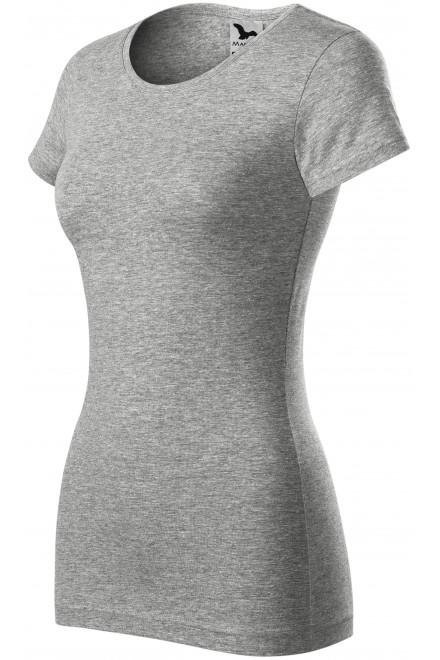 Ladies slim-fit T-shirt Dark gray melange