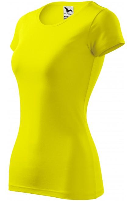 Ladies slim-fit T-shirt Lemon